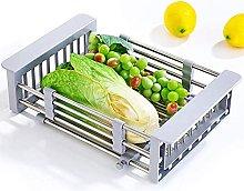 JiangKui Dish Drying Shelf Expandable Dish Drainer