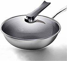JiangKui Wok Non-Stick Frying Pan Wok Stainless