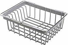 JIANGQIAO Sink Caddy Dish Drainer Rack Kitchen