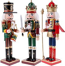 JIANMIN Christmas decoration 3pcs 30cm Tall Wooden