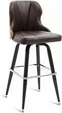 JIAO Bar Solid Wood Chair, Retro Bar Chair