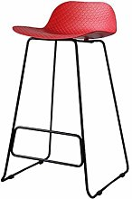 JIAO Bar Stool, PP Material Metal Leg Office Chair