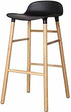 JIAO Solid Wood Bar Chair Creative Personality Bar