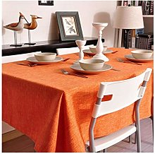 JIAO Tablecloth thick solid color linen material,