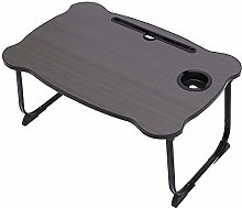 JIAOAOO Foldable Laptop Bed Table, Portable Lap