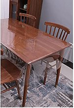 JIAOD Transparent Tablecloth, Pvc Clear Tablecover