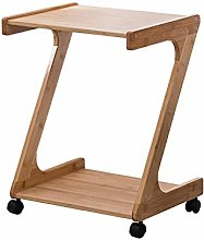 JIAODIE Printer Stand with Wheels,Snack Bed Table