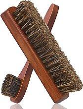 Jiaojie Horsehair Shoe Brush Set Wood Handle