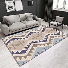 Jiaosa Carpets For Home blue Polyline Stripe Blue