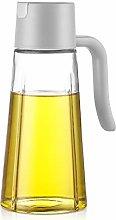 JIAQI Oil Bottle Dispenser - 500 ml Glass Portable