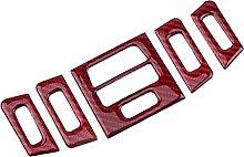jiasHome DINGSONGYANG Car Red Carbon Fiber Air