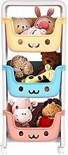 Jiasuz Kids Toy Storage Organizer, 3-Tier Rolling