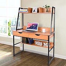 Jiasuz Modern Writing Desk, Ladder Desk Computer