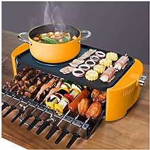 JIAX Indoor Electric Grill Bbq With Hot Pot