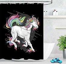 JIAXIN Angry Rainbow Unicorn Decoration Bathroom