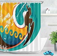 JIAXIN Art retro surf poster Bathroom decorative