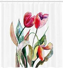 JIAXIN Art Watercolor Tulip Flowers Bathroom