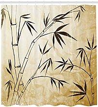 JIAXIN Asian Gradient Bamboo Leaves Bathroom