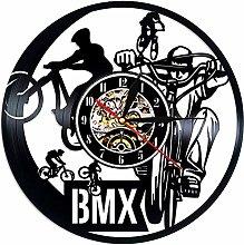 jiaxu BMX Sport Vinyl Record Wall Clock Modern