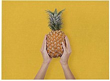JIAYAN Fruit Kitchen Placemat Coaster Pineapple