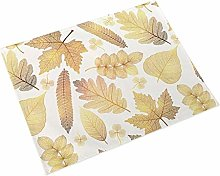 JIAYAN Gold Leaf Placemat Coffee Table Table