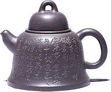 JIAZHOUMA 200cc Yixing Purple Clay Teapot Pottery