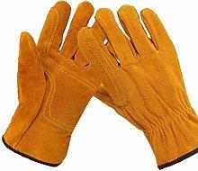 JIE KE Leather Forge Welding Gloves Heat/Fire