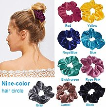 jieGorge♥ 9Pcs Hair Ring Women Hair Circle Soft