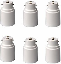 jieGorge B22 to E27 Bulb Adapters 6 Pack Lamp