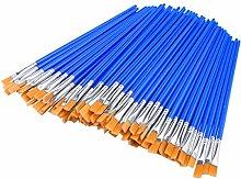 jieGorge Flat Brush, 60 Pcs Flat Paint Brushes,