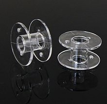 jieGorge Lots 10 Clear Plastic Bobbins For Brother