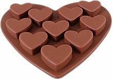 jieGorge Love Heart Shaped Silicone Molds Fondant