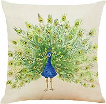 jieGorge Pillow Case Painted Peacock Pattern Sofa