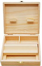 jieGorge Wood Stash Box With Rolling Tray Large