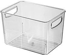 JIEHED Clear Storage Container Bin, Open