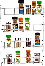 JIEIIFAFH 4 Tiers Kitchen Spice Jar Rack Cabinet