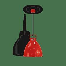 Jielde - Augustin A360 Suspension Lamp - red  