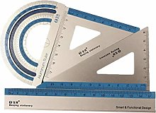 JIFNCR 4Pcs Math Geometry Tool Ruler Set