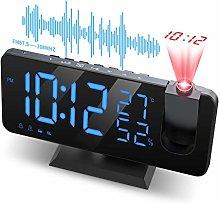 JIGA Projection Clock with Radio, Digital Alarm