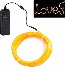 JIGUOOR EL Wire 5m/16.4ft Battery Pack Bright Neon