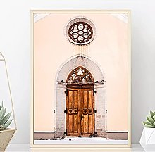 jijimidianzi Arch Door Wall Art Canvas Morocco