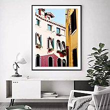 jijimidianzi Colorful Door Viewsacpe Canvas