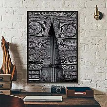 jijimidianzi Kaaba Door (Mecca) Print Decorative