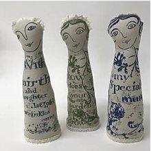 jill pargeter - Linen Figures - Special mum blue