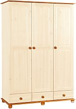 Jillian 3 Door Wardrobe Marlow Home Co. Finish: