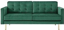 Jimena 3 Seater Sofa Canora Grey Upholstery