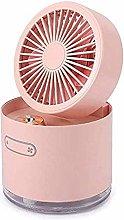 JIN Portable Fan Desk Fan Portable Humidifier Fan