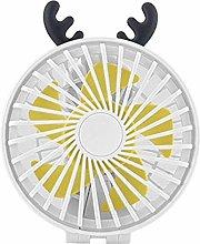 JIN Portable Fan Portable USB Desk Folding Fan