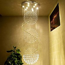 JIN Useful Pendant Light Modern Clear K9 Crystal