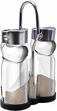 JINAN 2PCS Kitchen Glass Stainless Steel Spice